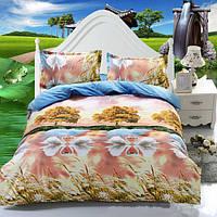 3 или 4шт 3d Swan озеро реактивного крашения полиэфирного волокна постельные наборы двойной размер королевы