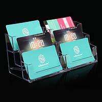 6 карман держатель дисплея акриловый офисный стол полка бизнес удостоверение личности