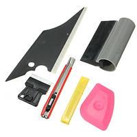 6Pcs Window Tint Инструмент Применение Набор Установочный комплект для Авто Wind Shield Home Glass
