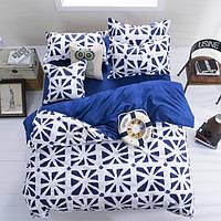 3 или 4шт полиэфирное волокно синий белый реактивной крашение комплекты постельных принадлежностей близнец полный размер королева
