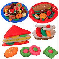 Играть установить режим здоровый бутерброд тесто прессформы мягкой глины пластилиновые игрушки