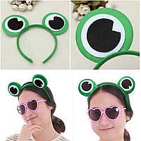 Cute Green Frog Eye Headbrand Волосы Стандарты Головные уборы для фантазии Платье Костюм Косплей