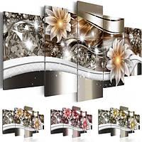 5pcs алмазный цветок искусства печать холст бескаркасных роспись стены картина украшение дома