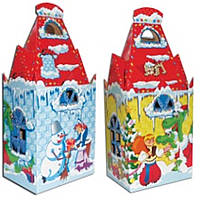 Подарочная новогодняя упаковка Замок Котигорошка ,500-600 г