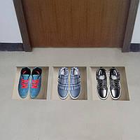 Спортивная обувь 3d езда решетки пола отличительные знаки PAG съемные стикеры искусства сетки домашнего декора подарок