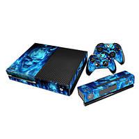 Наклейка дизайнер кожи для Xbox One консоль и 2 контроллер деколи синий череп