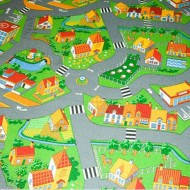 Детский ковролин с дорогами Little Village