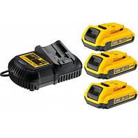 Зарядное устройство и 3 аккумулятора DCB183 2Ач DeWALT DCB115D3 (США)