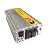 SGR-nx8012 автомобиль авто инвертор преобразователь адаптер 800W 12В в 220В модифицированная синусоида