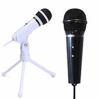 3.5мм конденсаторный микрофон записи микрофон подставка для портативных ПК настольных уу скайпе