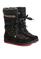 Сноубутсы женские черные, луноходы (moon boot) Vices 9099-1