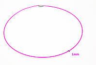 Розовый шнурок с застежкой на закрутке, р.45