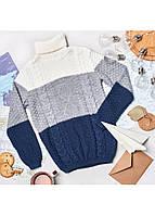 Детский теплый свитер для мальчика на зиму