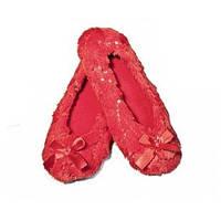 Комнатные тапочки Алиса, Эйвон, размер 38-39, цвет красный, Avon Alissa Slippers, 95464