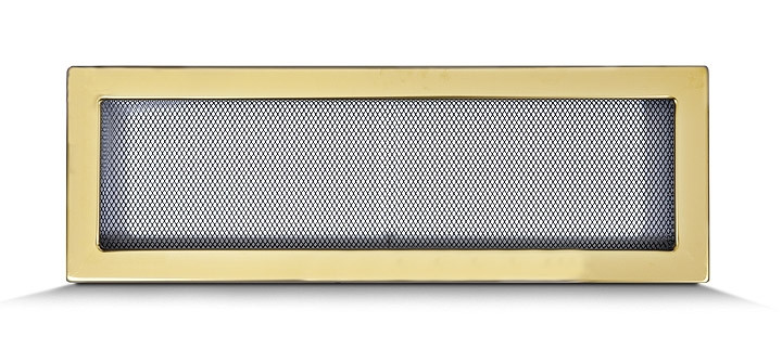 Решетка каминная 17х50 золотая, вентиляционная для камина, декоративная