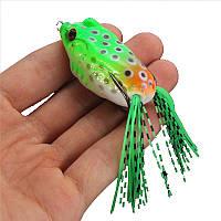 ZANLURE 5шт 6CM Большая лягушка Topwater рыболовной приманка воблер Крючки Bass Приманка снасть