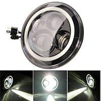 7-дюймовый круглый LED фары гало угол глаза Jeep Wrangler JK LJ TJ 1997-2015