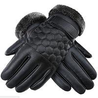 Практичные мужские перчатки для сенсорных экранов код 15 очень теплые