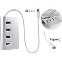 Высокоскоростном 4 порта USB 3.1 USB-концентратор с портативный алюминиевый ступица адаптер для новых MacBook Air PC ноутбук