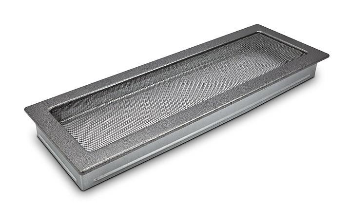 Решетка каминная 17х50 антик  серебряная, вентиляционная для камина, декоративная