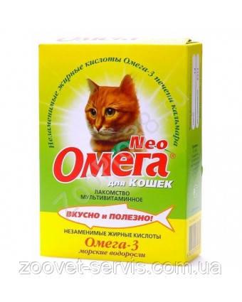 Витаминно-минеральный комплекс «Омега Neo» для кошек с морскими водорослями, уп. 90 таб., фото 2