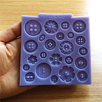 Силиконовые кнопки торт сладкие конфеты желе льда прессформы шоколада прессформы украшения выпечки перед обеими инструмент