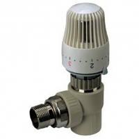 Кран термостатический с термоголовкой угловой 25-3/4 PPR Koer