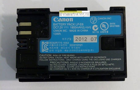 Акумуляторна батарея CANON LP-E6 (Digital), фото 2