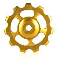 Ролик заднего переключателя алюминиевый, золотой