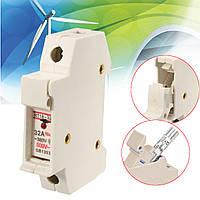 Rt18-32x переменного тока 380v 32a 1 полюс 10x38mm дин рейку предохранителей держатель базы с индикатором LED
