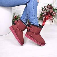 Угги женские Tinny Бордо 3955, зимняя обувь