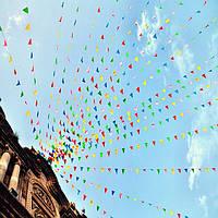 80m треугольник сортированный цвет декора вымпел флаги строка баннер овсянки день рождения