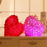 Плюшевых красочный LED легкая музыка форма сердца розы бросить подушку фестиваль Валентина подарки на день рождения