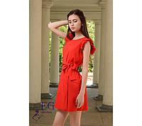 """Летнее платье """"Modest"""" - распродажа модели красный, 42-44"""