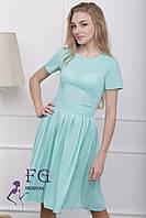 """Платье летнее """"Fleur"""" - распродажа модели мята, 42"""