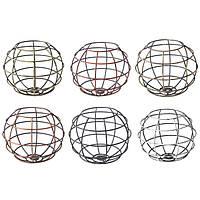 Железо старинных Плафониера колбы лампы форма сфера клетка кафе абажур