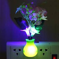 Романтический цветок вишни LED контроль спальне ночной свет лампы декор датчик