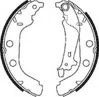 Гальмівні колодки задні на Рено Кенго (d = 228x42.5) (97-2008)- 4MAX (Польща) 5206-02-0298P