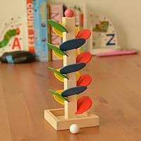 Деревянный дерево ребенок дети дети разведка образовательные игрушки мрамор игра мяч бежать трек
