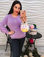 Ангоровый свитер теплый и красивый