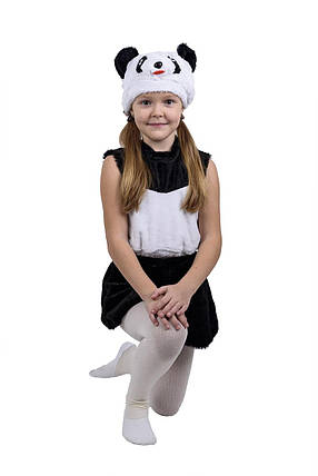 """Карнавальный детский меховой костюм """"Панда"""" для девочки, фото 2"""