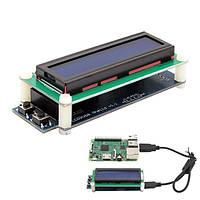 1602 RGB ЖК-дисплей с USB-портом для Raspberry Windows Linux B+ пи 3b 2b