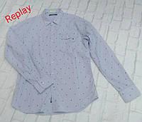 Мужская голубая рубашка Replay