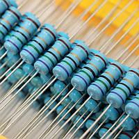 1000 штук 1% 1W металлический пленочный резистор 100 значений Ассортимент Набор 1 Ом ~ 1 Ом ом Диапазон