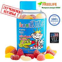Gummi King, Мультивитамины и минералы для детей, 60 жевательных конфет в виде мишек, купить, цена, отзывы