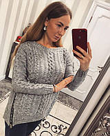 Красивый женский свитер с модными молниями