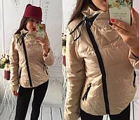 """Куртка демисезонная женская """"Ариэла"""" капучино, 48"""