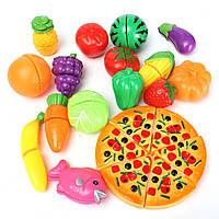 Дети ребенок 19 штук множество смешной мини-кухня игрушки моделирования безопасности пищевых продуктов игра пицца резки овощной фруктовый по