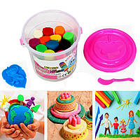 Дети дети 15 шт 12 цветов резиновые грязи глины 3d безопасности пластилин моделирование резец грязевые поделок развивающих игрушек