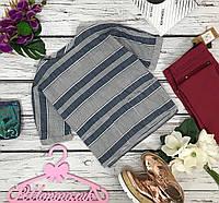 """Стильная повседневная блуза в """"пижамный"""" полосатый рисунок  BL5008"""